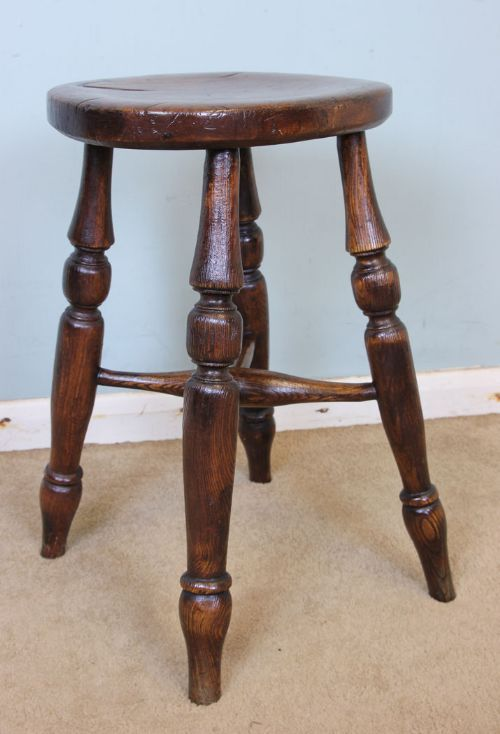 Victorian Ash and Elm Country Kitchen Stool