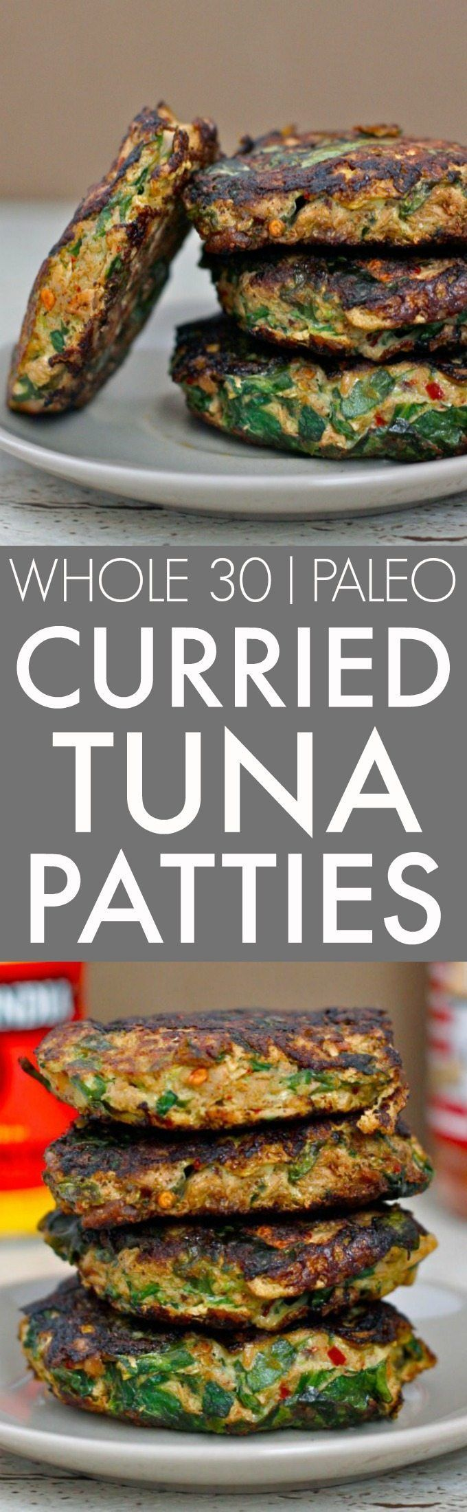 Easy Curried Tuna Patties (Whole 30, Paleo, GF)- Whole30 friendly SUPER flavorful and delicious curried tuna patties using canned tuna or salmon- Quick, delicious, healthy and cheap! {low carb, paleo, gluten free}- thebigmansworld.com