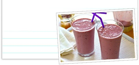 Welches Grape juice-Banana Smoothie :)