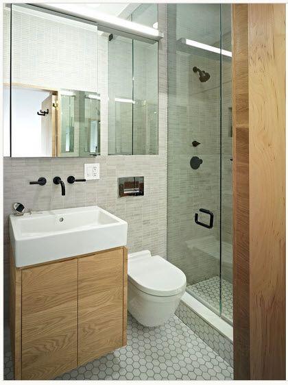Diseño de baño pequeño lineal