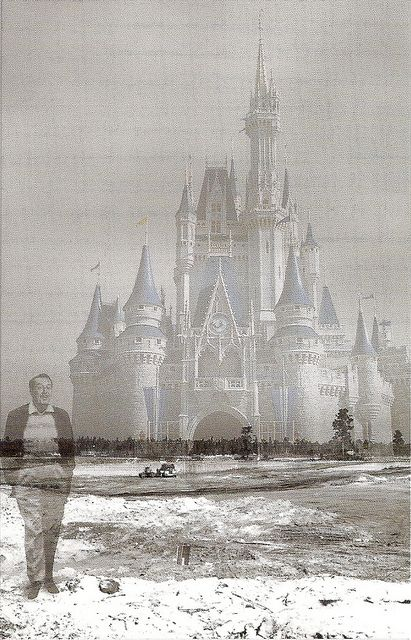 Walt Disney walking his dream. I can't explain them impact this picture has on me. So much imagination and spirit in one man!