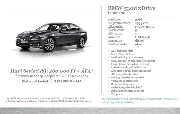 Operatív lízing ajánlat BMW 530d xDrive-ra