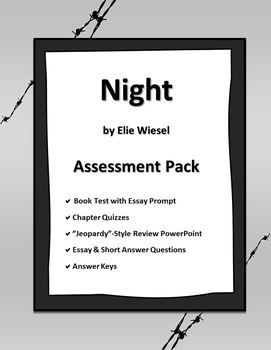 "night book essay The holocaust is a persistent clip in the history of the universe the book ""night"" by elie wiesel captures wiesel's stalking experience during the holocaust a book like this is one that is non read for enjoyment but instead for information."