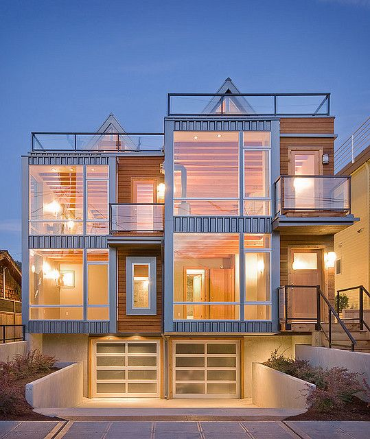 Duplex fourplex plans a collection of ideas to try about for Modern townhouse plans