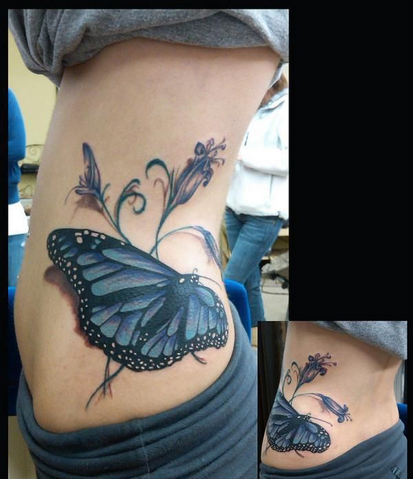 218 best butterfly tattoos images on pinterest for Tattoos on side of stomach