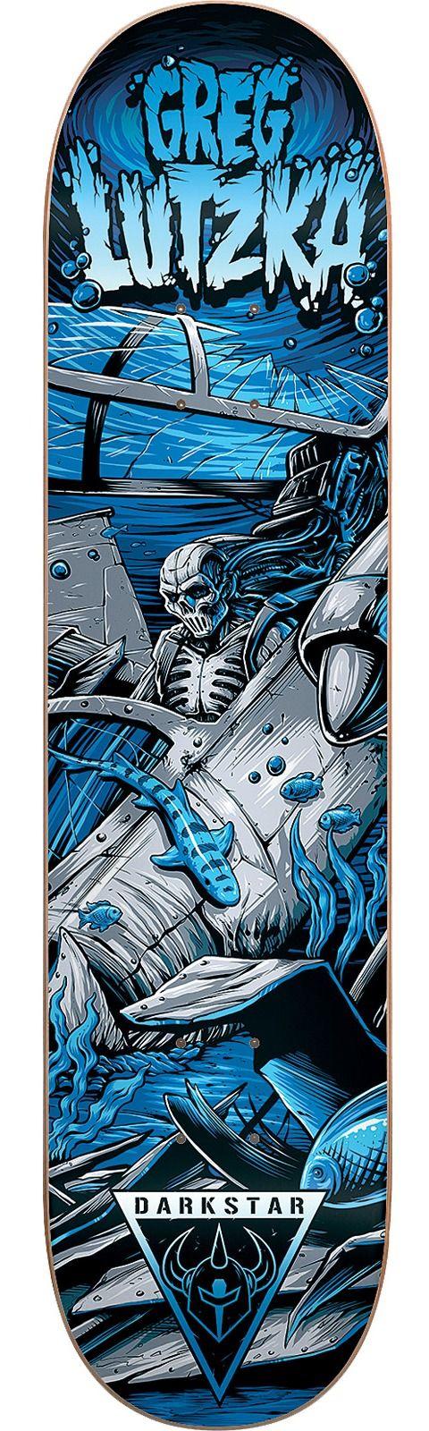 Darkstar Greg Lutzka Resin 7 Crash Skateboard Deck