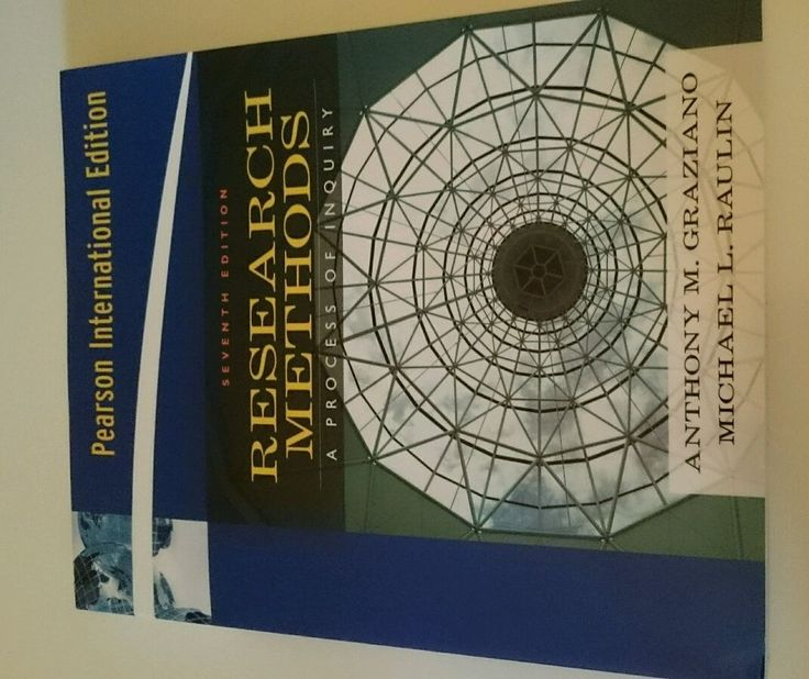Research Methods A Process of Inquiry, Anthony M. Graziano, Michael L. Raulin