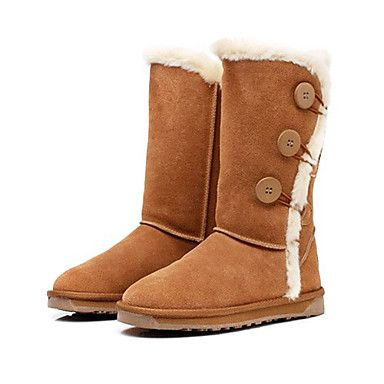 Heel Plano de camurça mulheres botas de neve meados de bezerro botas (mais cores) – EUR € 49.49