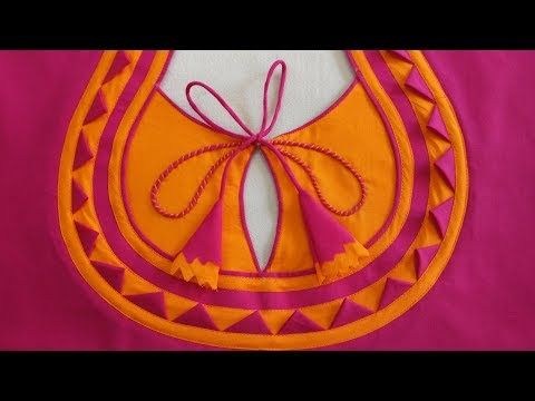 Very Beautiful Braidal Back Neck Design For Blouse/Suit/Kameez Cutting And Stitching - YouTube