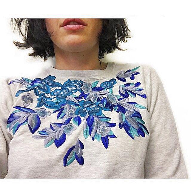 Embroidered Sweatshirt  Ellie Mac Embroidery