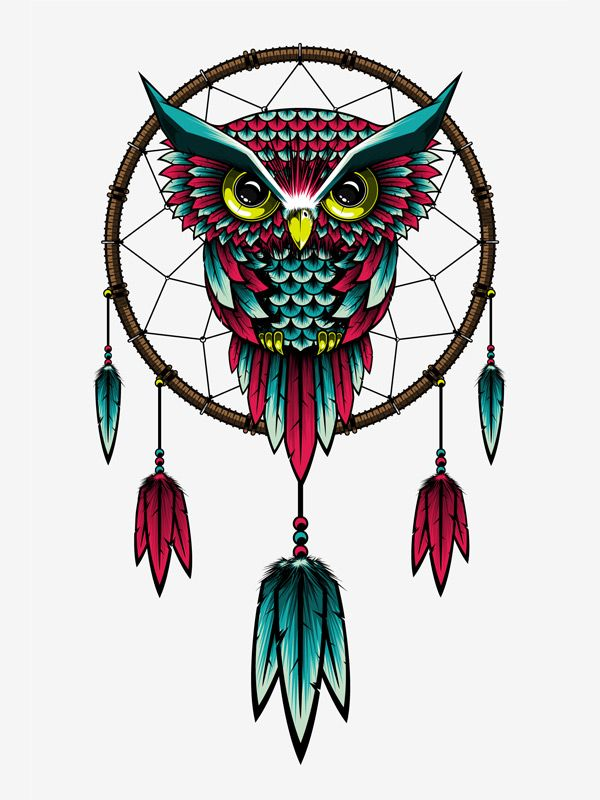 dreamcatcher. Love the owl in the middle. Would change the feathers.