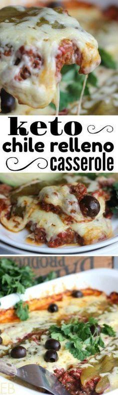 Keto Chile Relleno Casserole {a Keto, GAPS, Paleo, egg-free Mexican Dinner Casserole; easy!} #ketomexican #ketocasserole #chilerelleno #paleocasserole #gapscasserole #paleochilerelleno #easyketodinner #easypaleodinner