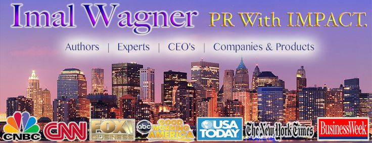 Imal Wagner is an expert public relations specialist in Public Relations, Branding, Marketing & Blog Tours. Publicist Imal Wagner is known for implementing creative and customized public relations programs designed to impact a clients specific business goals and objectives. Phoenix Rising is public relations firm that features a dedicated and focused staff engaged in creatively executing global public relations campaigns. Contact Imal's PR firm today!  http://www.imalpr.com/#!contact/c24vq