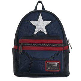 Captain America Star Logo Faux Leather Mini Backpack