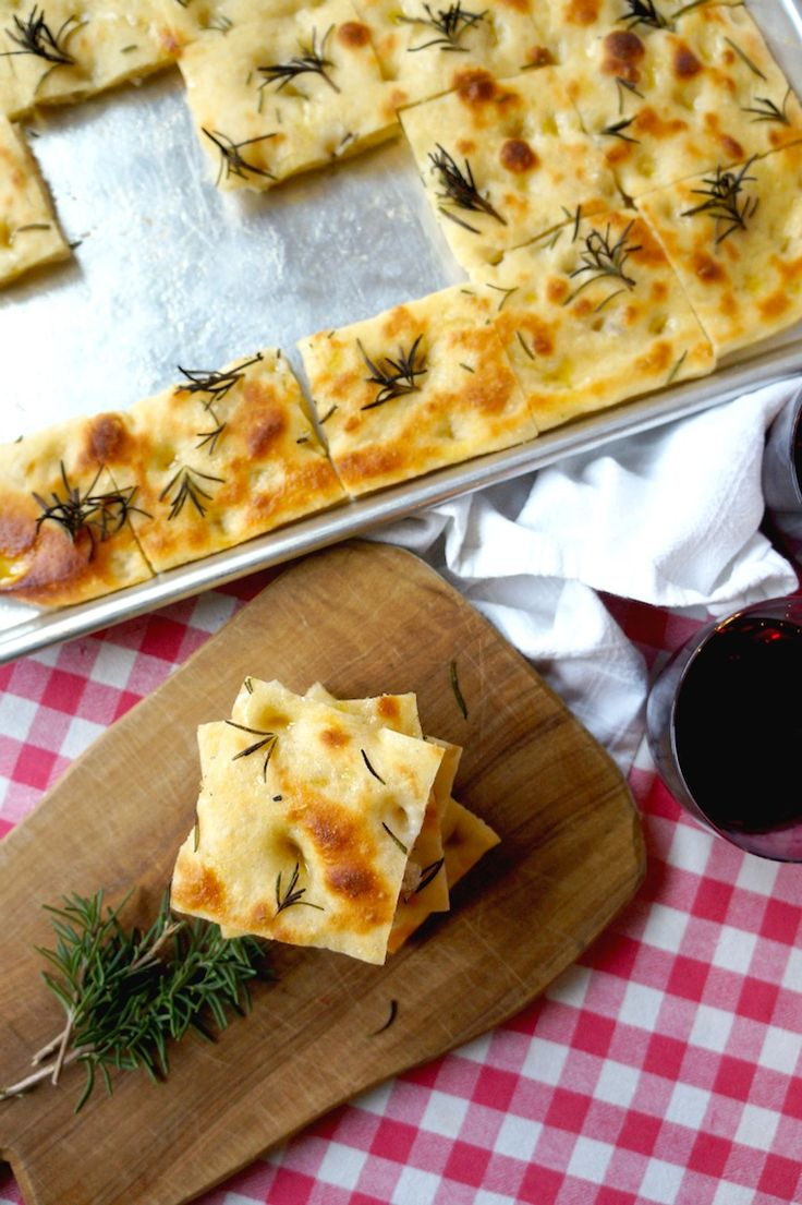 Golden Rosemary Focaccia Bread