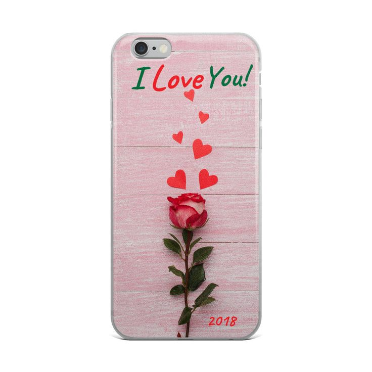 Valentine's Day iPhone Case - I Love You! - Rose Hearts Vday Phone cover Valentine's Day Gift - Custom Phone Case by MaMiInspired on Etsy