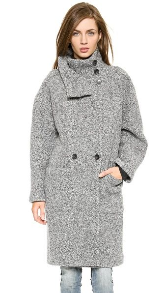 IRO Aylina High Neck Long Coat