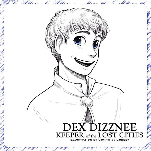 Dex, from the KEEPER OF THE LOST CITIES series, as drawn ...