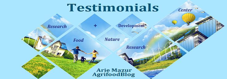Look what people says as about Arie Mazur Agriculture Food Blog. Arie Mazur Research Center Reviews and sayings.