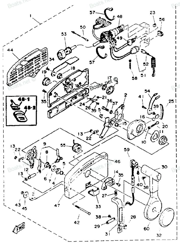 yamaha outboard remote control p parts 703 diagram and