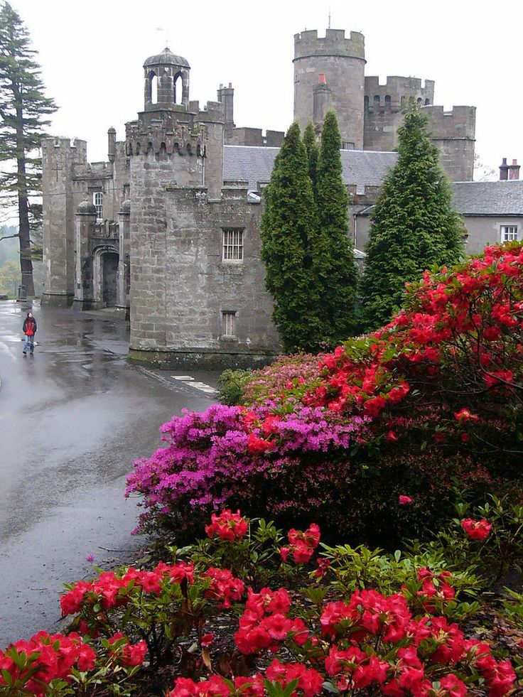 Balloch Castle ~ is a 19th century castle situated on the southern tip of Lock Lomand, West Dunbartonshire, Scotland
