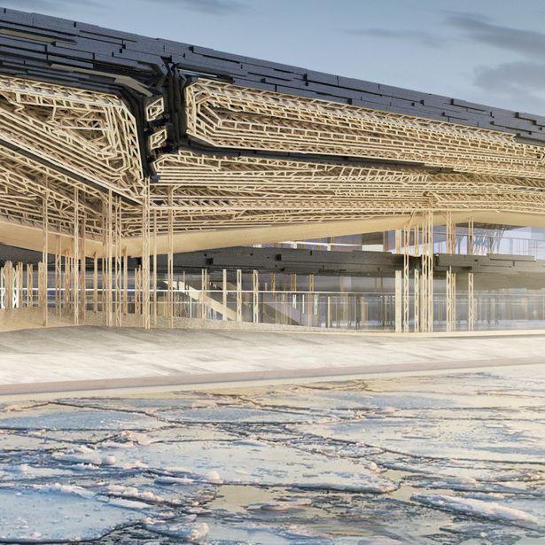 Guggenheim Helsinki   Gilles Retsin Architecture; Visualisation: Flying Architecture   Archinect