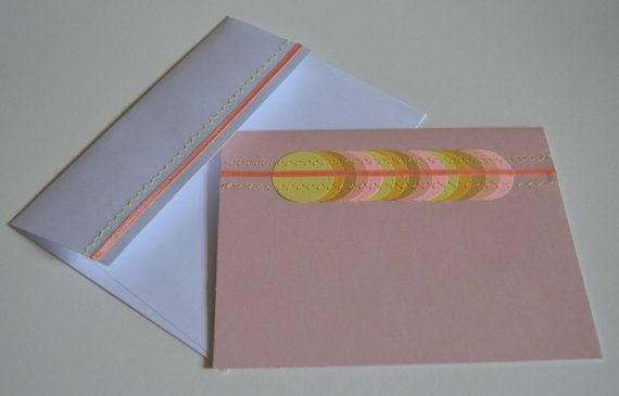 Blank card Cute card Soft Pink Card with Ribbon by MilestonesandPebbles, $5.09 https://www.etsy.com/shop/MilestonesandPebbles?ref=related-shop-35