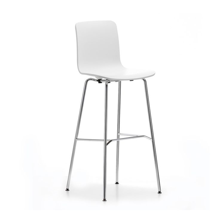 Opting for simple functionality over flashy showmanship, Jasper Morrison's designs pare back the elements to celebrate contemporary form. Developing the classic plastic shell chair, the HAL bar stool offers functional style with a supportive seat and tall tubular steel base.