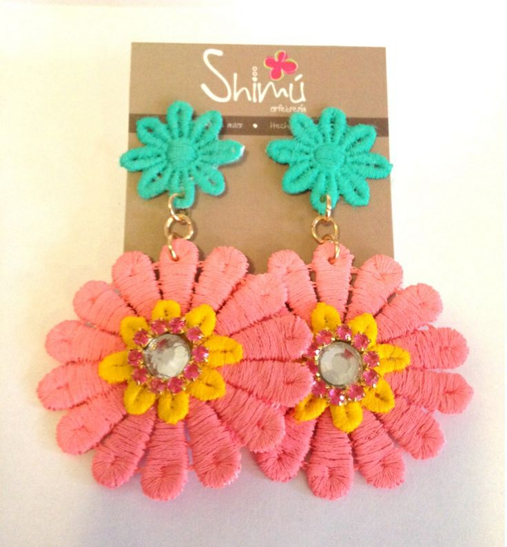 Nuevos zarcillos flores / New flower earrings Handmade summer