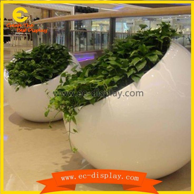 square atrium props fiberglass large wholesale planter boxes manufacture china…