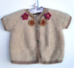 Simple Top Down Baby Cardi | AllFreeKnitting.com