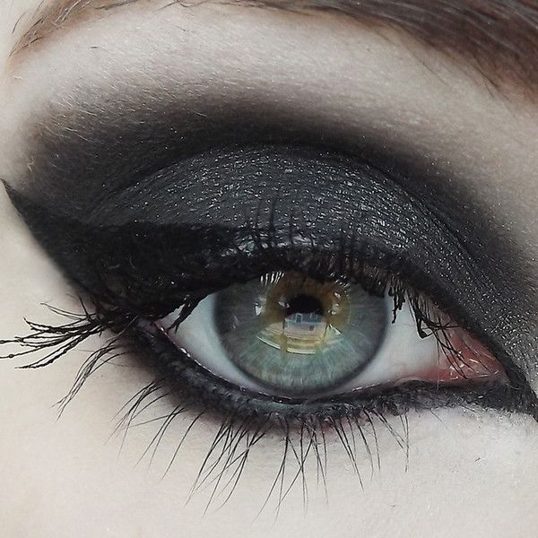 (Black w/ silver sparkle) Whether you're from the grim and frostbitten forests of Norway, or you just really dig a good, sultry black, this color will not disap