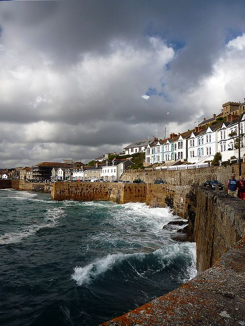 Dark Thunderclouds over Porthleven, Cornwall (Cornishcarolin)