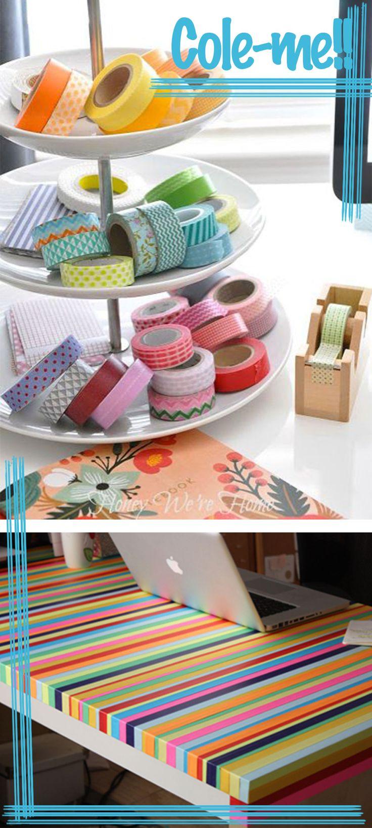 decorando com washi tape