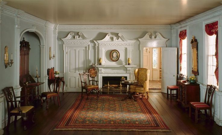 Mrs. James Ward Thorne, American, 1882-1966.  Thorne Room:  Rhode Island Parlor, c. 1820.