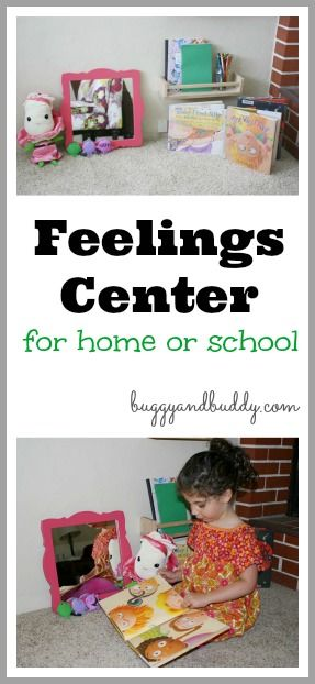 A Simple Feelings Center for Home or Classroom with a Book Set about Feelings~ Buggy and Buddy