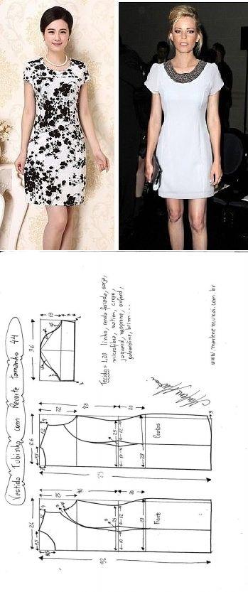 El patrón del vestido veraniego con los relieves laterales (la Costura y el corte) | la Revista la Inspiración de la Laborera