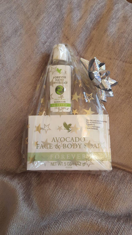 Aloe Hand Sanitizer and Avocado Face & Body Soap