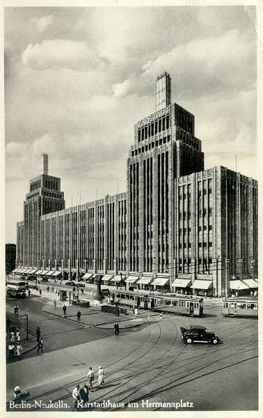 Karstadt building - at one of the most crowded square in south Berlin – Hermannplatz – 2 subway lines, the U7 and U8, are crossing.