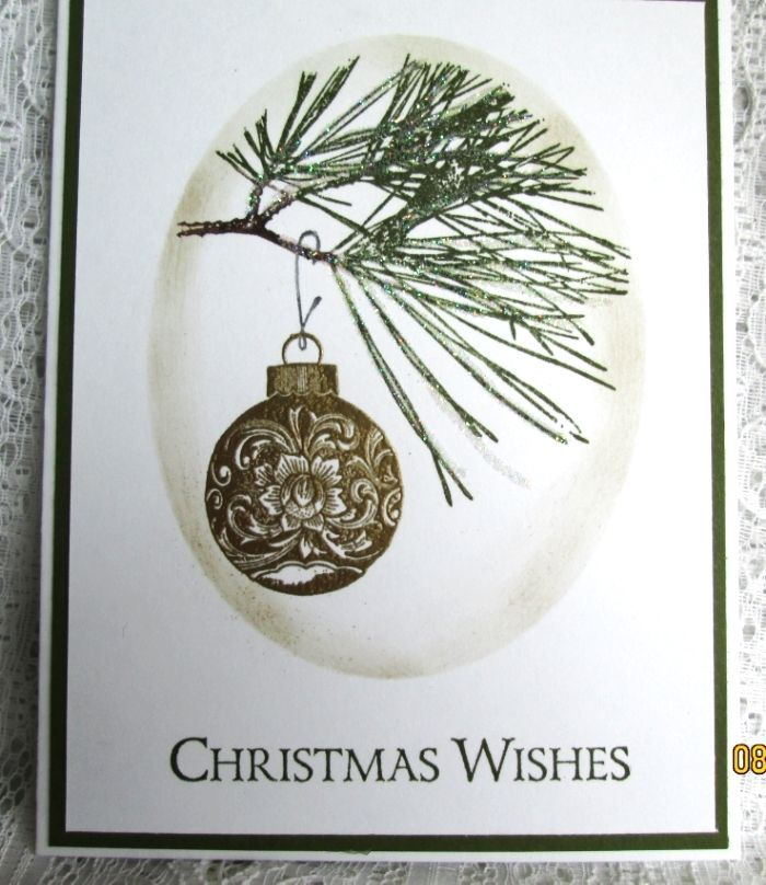 SU Ornamental Pine  gold embossed, glitter   *photo only