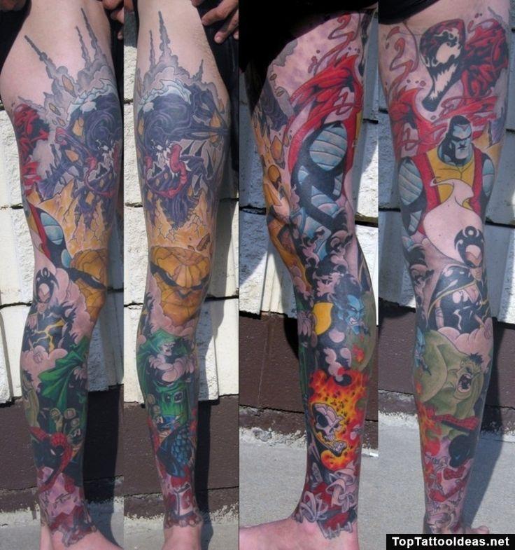 Amazing Marvel Tattoo