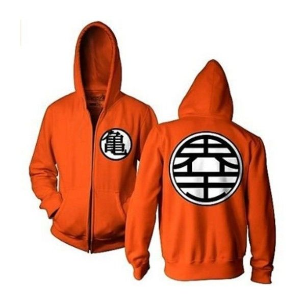Dragon Ball Z Kame Symbol Orange Zip-Up Adult Hoodie ($34) ❤ liked on Polyvore featuring tops, hoodies, hooded zip up sweatshirt, zip up tops, zip up hoodies, sweatshirt hoodies and zip up hoodie