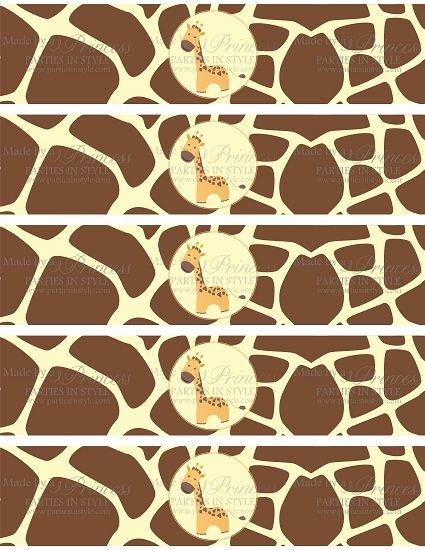 Free giraffe Labels to Print   ... Wild Adventure ...