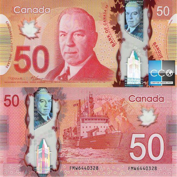 Sur le billet, William Lyon Mackenzie King est à ce jour le premier ministre fédéral resté le plus longtemps en fonction. Retrouvez toutes les caractéristiques du billet sur la Banque du Canada : http://www.banqueducanada.ca/billets/series-de-billets-de-banque/polymere/graphisme/?_ga=1.205305300.519371255.1483962099