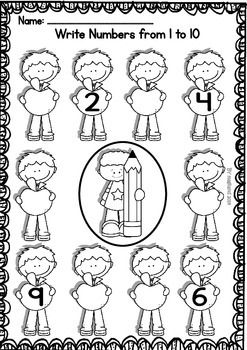 BACK TO SCHOOL - NO-PREP PRINTABLES PACKET (PRE-KINDER/1ST GRADE) - TeachersPayTeachers.com