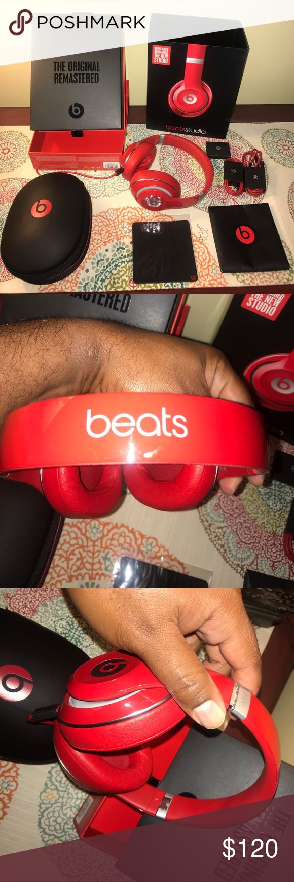 Updated Beats studio Headphones These are the updated 2015-2016 version. Used a few times but upgraded to another headset. Excellent condition despite a small pinhole in the ear cuff, see picture above. beats by Dr. Dre Other