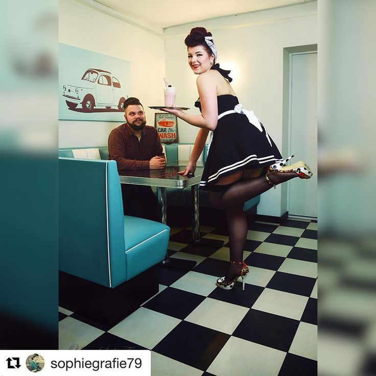 #Repost @sophiegrafie79 with @get_repost  Meet the Shake'n'Cherry Girls  Waitress: @_frau_p  Nice guy: @toke_truhenbauer  #pinup #waitress #milkshake #rockabilly #pinupgirl #pinupstyle #vintagestyle #retrofashion #diner #1950s #beardedmodel #haartolle #50erjahre #ganzschönkess #photooftheday  Hope you like it: @rocketmagazine @pinup_life_magazine @vintagelifemag