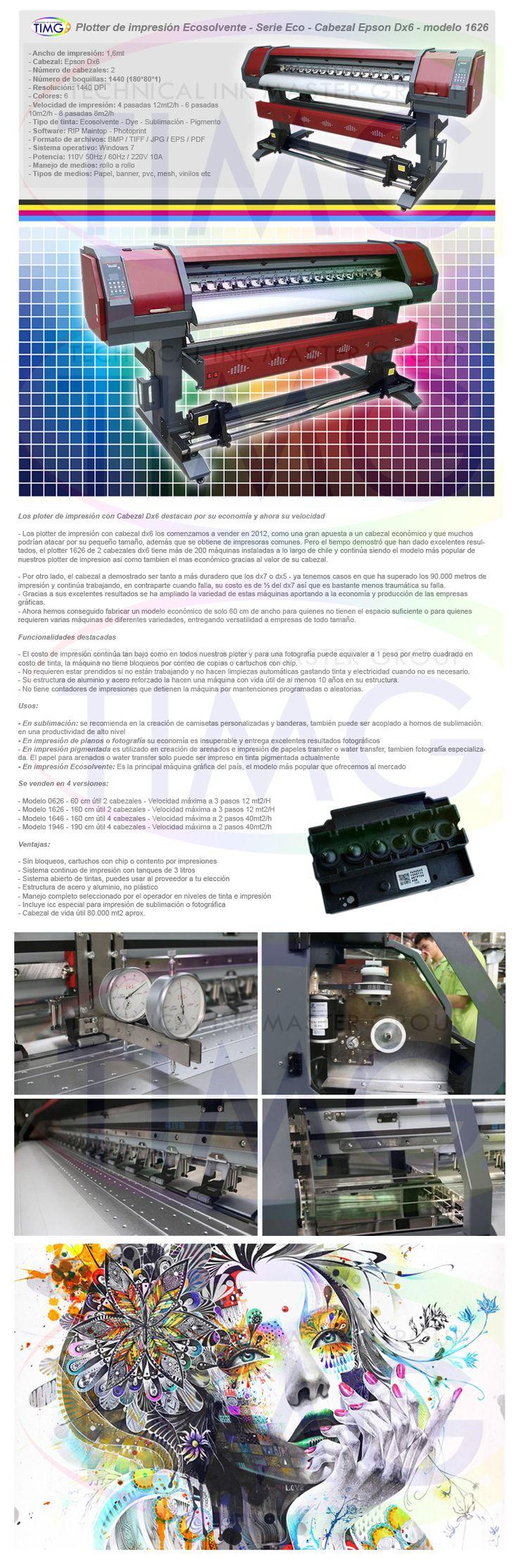 Han ingresado a bodega ploter de impresión 1626 queda solo 1 unidad disponible pronto comienzan las entregas - http://www.suministro.cl/product_p/6201010006.htm
