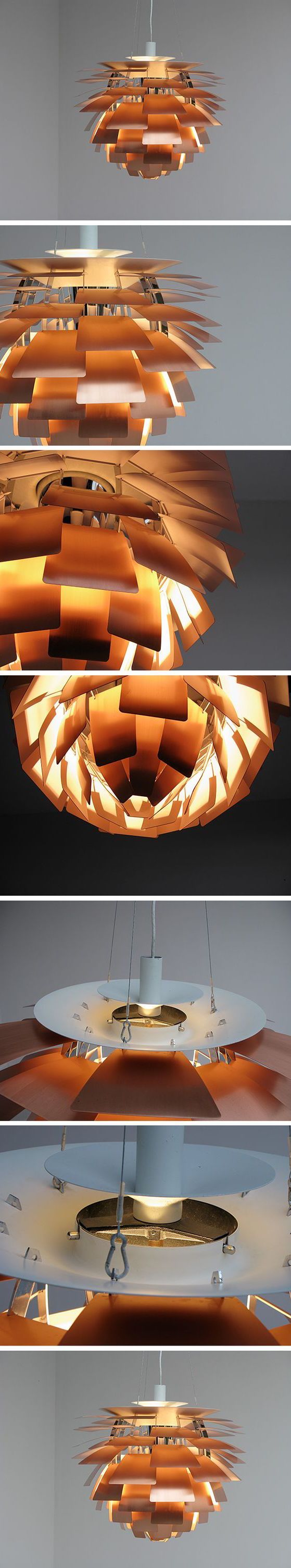 De PH Artichoke is ontworpen in 1958 door Poul Henningsen voor het Langelinie Pavillonen restaurant in Copenhagen. De PH Artichoke zorgt voor 100% schitteringsvrij licht. De 72 nauwkeurig geplaatste bladen vormen 12 unieke rijen van elk 6 bladen. Ze verlichten het armatuur, maar stralen ook diffuus licht uit. Hierdoor ontstaat er een uniek patroon. De prachtige PH Artichoke zorgt voor een decoratief lichteffect en aangename verlichting.