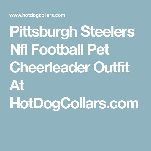 Pittsburgh Steelers Nfl Football Pet Cheerleader Outfit At HotDogCollars.com